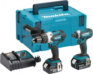 MAKITA DLX2145TJ 18v Li-ion 2Pc Combo Kit 2x5Ah Power Tool  MAKDLX2145TJ
