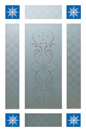 LPD - Internal Door - Downham Glass Pack 875 x 179 mm  PPGPDOW27