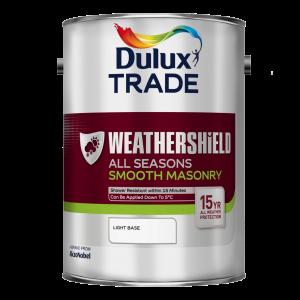 Dulux Trade Weathershield All Seasons Smooth Masonry Paint