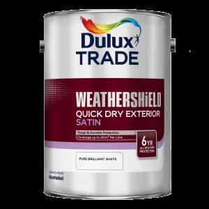 Dulux Trade Weathershield Quick Dry Exterior Satin
