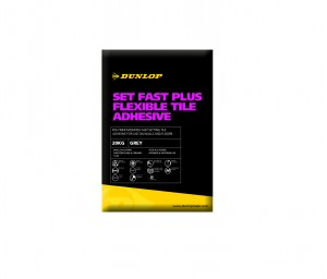 DUNLOP SET FAST PLUS FLOOR & WALL TILE ADHESIVE WHITE 20KG [DUN18734]