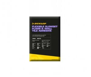 DUNLOP FLEXIBLE SLOWSET FLOOR & WALL ADHESIVE WHITE 20KG [DUN25782]