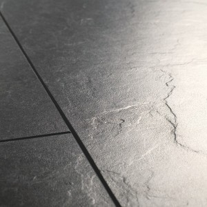 QUICK STEP Laminate Flooring Exquisa SLATE BLACK GALAXY - 8x40.8x122.4mm  EXQ1551