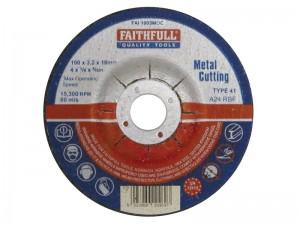Depressed Centre Metal Cut Off Disc  FAI1003MDC