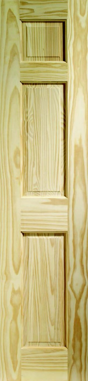 XL JOINERY DOORS -  CPIN6P21  Internal Clear Pine Colonial 3 Panel  CPIN6P21