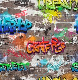 Novelty Graffiti Wallpaper  FD41582