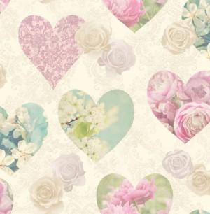 Novelty Hearts Sidewall Wallpaper  FD41912