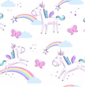 Unicorns Sidewall Wallpaper  FD41922