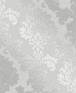 Quartz Damask Wallpaper - Silver  FD41965