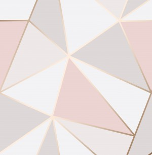 Apex Geo Sidewall Wallpaper - Rose Gold  FD41993