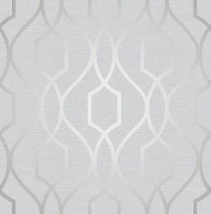 Apex Trellis Sidewall Wallpaper - Stone Silver  FD41995