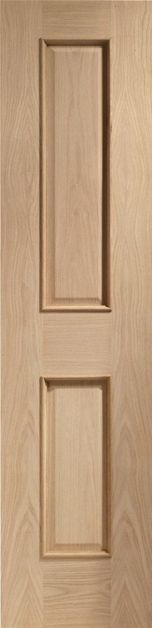 XL JOINERY DOORS -  INTOVIC21RM  Internal Oak Victorian 2 Panel with Raised Mouldings  INTOVIC21RM