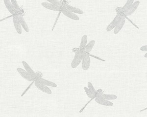 A S Creation Wallpaper - Four Seasons Dragonflies Grey