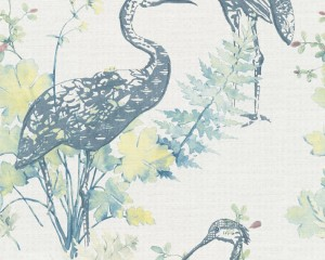 A S Creation Wallpaper - Four Seasons Heron Ink
