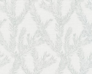 A S Creation Wallpaper - Four Seasons Leaf White Silver