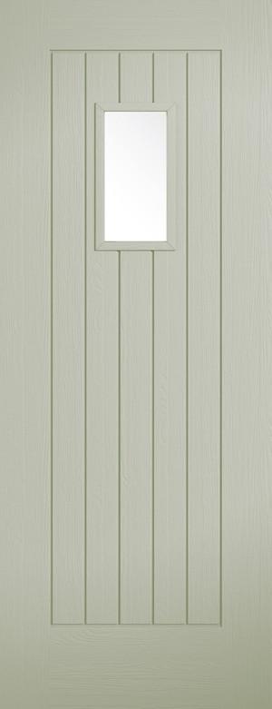 "LPD - External Door - French Sage Embossed Suffolk 1L 1981 x 762 (30"")  EMBSUFGLFRS30"