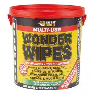 SikaEverbuild Multi-Use Wonder Wipes Giant Tub 300Pk [EVBGIANTWIPE]