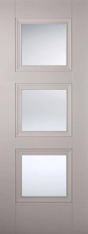 "LPD - Internal Door - Grey Amsterdam Glazed 3L 1981 x 838 (33"")  AMSGREGL33"