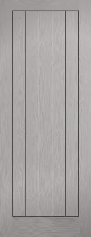"""LPD - Fire Door - Grey Moulded Textured Vertical 5P 1981 x 686 (27"""")  FCTEXV5P27GREY"""