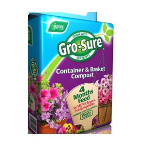 WESTLAND Gro-Sure Container & Basket Compost  & Feed 50L  WEST11200020