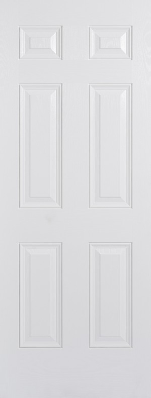 "LPD - External Door - GRP Colonial 6P White 2032 x 813 (32"")  GRPCOLWHI32"