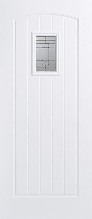 "LPD - External Door - GRP Cottage White Glazed 1L 1981 x 838 (33"")  GRPCOTWHI33"