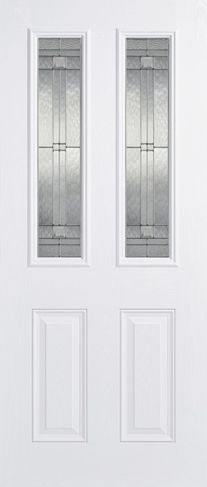 "LPD - External Door - GRP Malton White Glazed 2L 1981 x 838 (33"")  GRPMALWHI33"