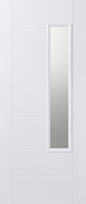 "LPD - External Door - GRP Newbury White Glazed 1L 1981 x 838 (33"")  GRPNEWWHI33"
