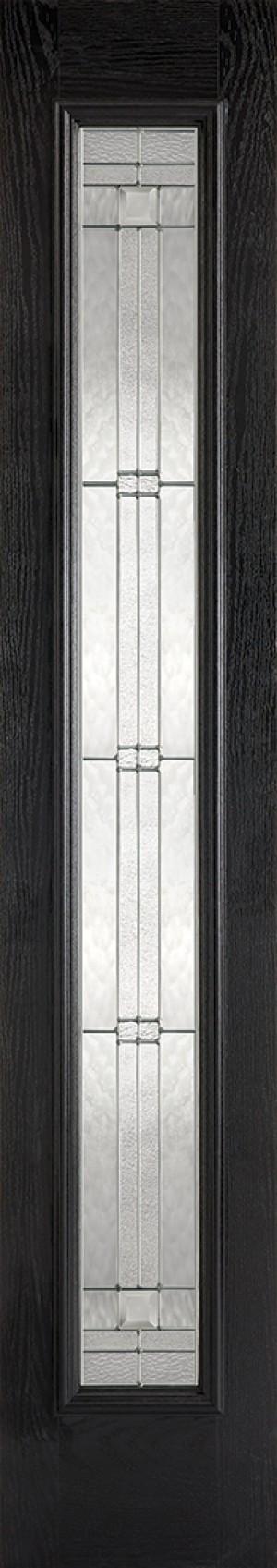 "LPD - External Door - GRP Sidelight Black Glazed 1L Elegant 2032 x 356 (14"")  GRPBLASLELE"