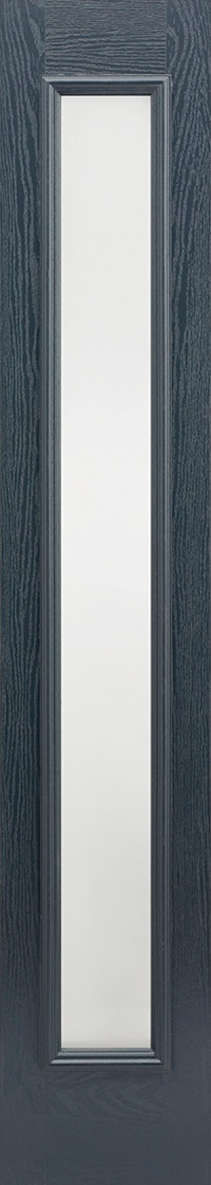 "LPD - External Door - GRP Sidelight Grey Glazed 1L Frosted 2032 x 356 (14"")  GRPGRESLFRO"