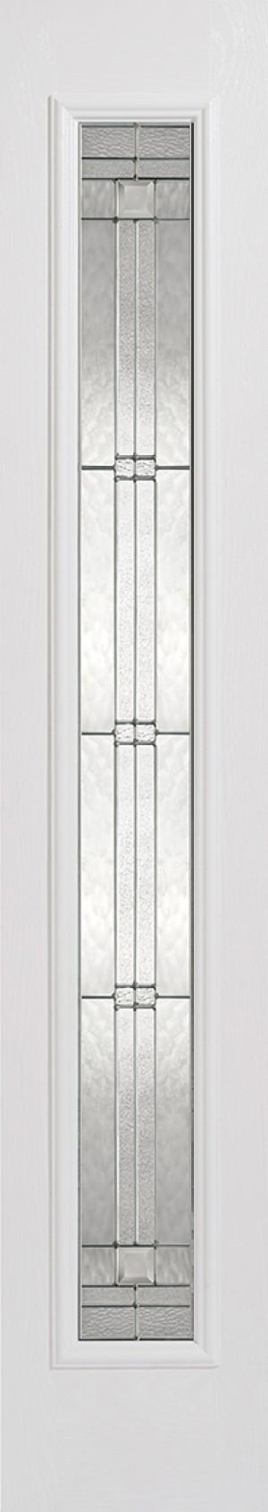 """LPD - External Door - GRP Sidelight White Glazed 1L Elegant 2032 x 356 (14"""")  GRPWHISLELE"""