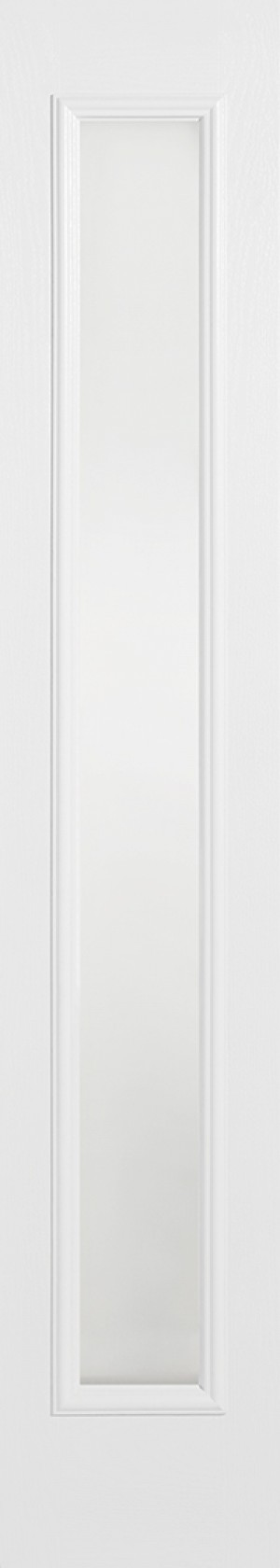 "LPD - External Door - GRP Sidelight White Glazed 1L Frosted 2032 x 356 (14"")  GRPWHISLFRO"