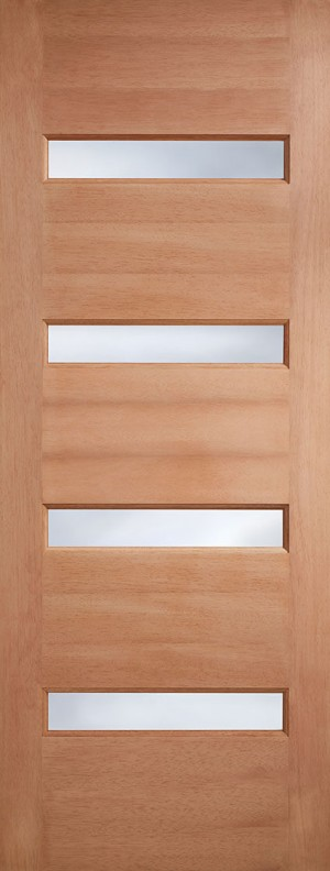 "LPD - External Door - Hardwood Balham Frosted Glazed 1981 x 762 (30"")  MTBALFGDG30"