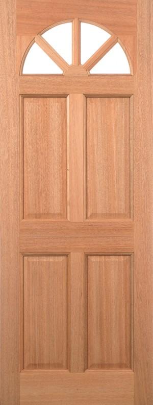 "LPD - External Door - Hardwood Carolina 4P M&T Glazed 2032 x 813 (32"")  MTCARCGDG32"