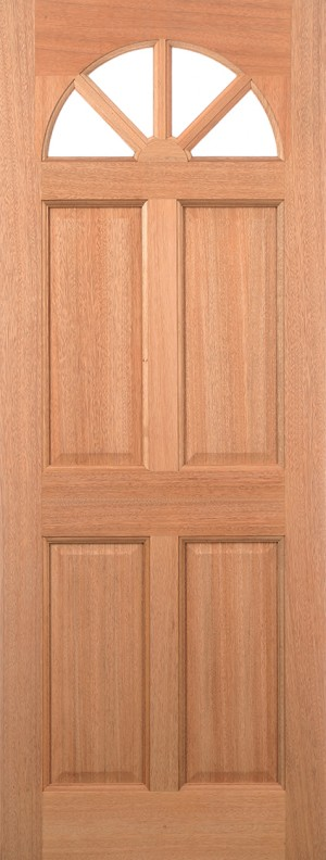 "LPD - External Door - Hardwood Carolina 4P M&T 1981 x 762 (30"")  MTCAR30"