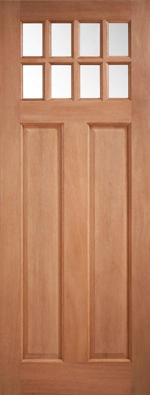 "LPD - External Door - Hardwood Chigwell Clear Glazed 1981 x 762 (30"")  MTCHICGDG30"