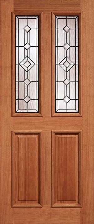 "LPD - External Door - Hardwood Derby Glazed 2L Leaded 1981 x 762 (30"")  MTDERTGL30"