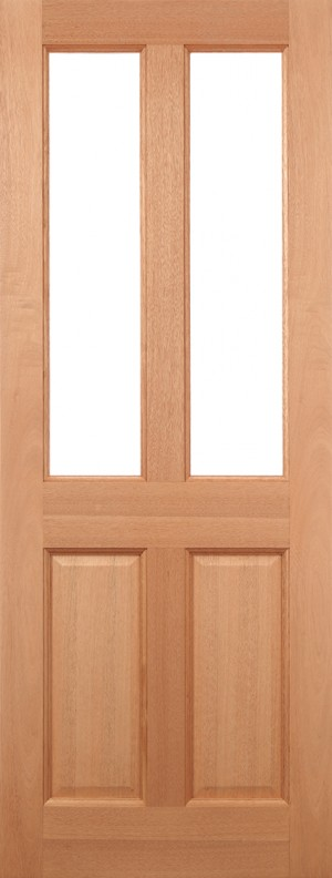 "LPD - External Door - Hardwood Malton Glazed 2L Frosted 1981 x 762 (30"")  MALHWDDG30"