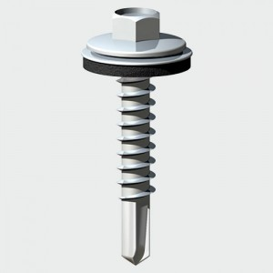 TEK SCREW Washer 6.3x60mm to Wood LOOSE  TIMDS60W16B