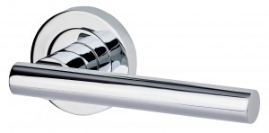 LPD - Internal Door - Ironmongery Hyperion Polished Chrome Handle Hardware Pack 230 x 160 mm HARDHYPPC  HARDHYPPC