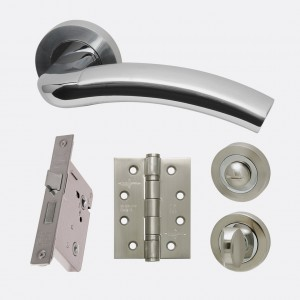 LPD - Internal Door - Ironmongery Jupiter Privacy Handle Hardware Pack  214 x 208 mm  HARDJUPPRI