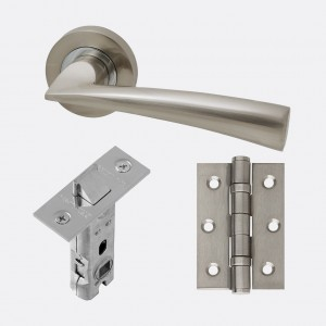 LPD - Internal Door - Ironmongery Mars Handle Hardware Pack  230 x 160 mm  HARDMAR