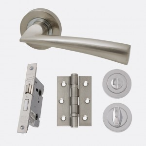 LPD - Internal Door - Ironmongery Mars Privacy Handle Hardware Pack  214 x 208 mm  HARDMARPRI