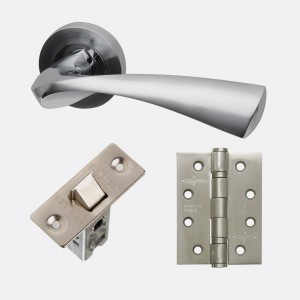 LPD - Internal Door - Ironmongery Pluto Handle Hardware Pack 230 x 160 mm  HARDPLU
