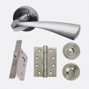 LPD - Internal Door - Ironmongery Pluto Privacy Handle Hardware Pack 214 x 208 mm  HARDPLUPRI