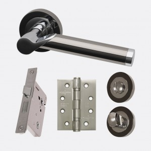 LPD - Internal Door - Ironmongery Polaris Privacy Handle Hardware Pack   214 x 208 mm  HARDPOLPRI