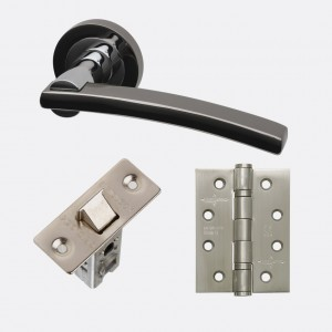 LPD - Internal Door - Ironmongery Sirus Handle Hardware Pack 230 x 160 mm  HARDSIR
