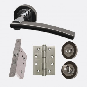 LPD - Internal Door - Ironmongery Sirus Privacy Handle Hardware Pack 214 x 208 mm  HARDSIRPRI