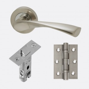 LPD - Internal Door - Ironmongery Solar Handle Hardware Pack 230 x 160 mm  HARDSOL