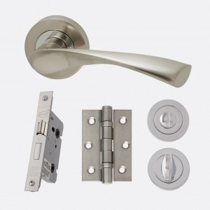 LPD - Internal Door - Ironmongery Solar Privacy Handle Hardware Pack 214 x 208 mm  HARDSOLPRI